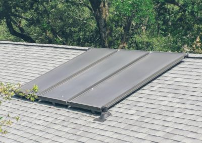3 panel solar on shingle roof